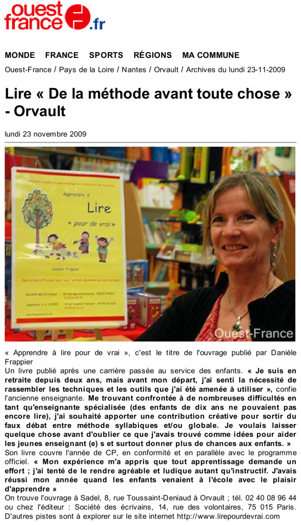 Article-Ouest-France-Nov2009